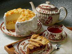 Russian Tea and Sweets, Spode indian tree pattern Cake Wallpaper, Wallpaper Desktop, Café Chocolate, Think Food, Tea Cakes, Cream Cake, Ice Cream, Aesthetic Food, High Tea