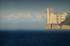 "Miramare castle - Trieste (Italy) -- Pinning this one on ""Inspiration"" board, because it reminds me of Cair Paravel in Chronicles of Narnia."