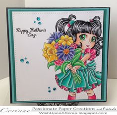 Passionate Paper Creations: Carley with Flowers, Make It Crafty
