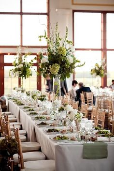 Love all the hydrangea arrangements