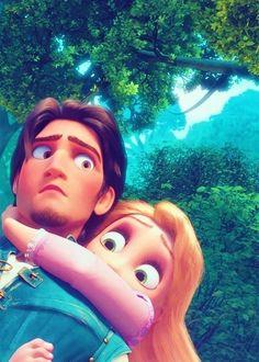 """Tangled"" - Flynn Rider and Rapunzel. Disney Rapunzel, Walt Disney, Disney Magic, Disney Pixar, Rapunzel Flynn, Rapunzel And Eugene, Disney Couples, Disney And Dreamworks, Disney Art"