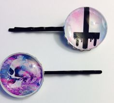 Ready to Ship Pastel Goth Bobby Pins Set by ArsenicaAccoutrement, $5.00