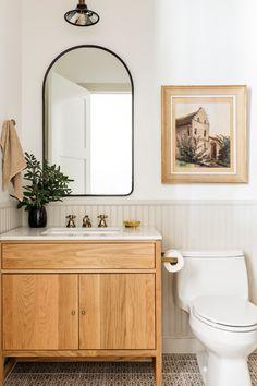 Bathroom Renos, Bathroom Interior, Bathroom With Beadboard, Master Bathroom, Bathroom Vanity Decor, Bathrooms Decor, Wood Bathroom, Design Bathroom, Washroom
