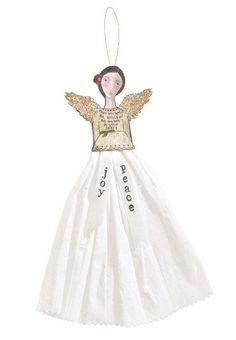 homedecor4seasons Angel Ornaments with Paper Skirt - Christmas - Seasonal homedecor4seasons