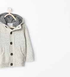 Image 1 of KNITTED CARDIGAN WITH HOOD from Zara