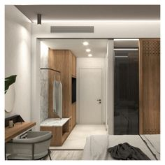 The main concern during the design process was the development of a single – functionally and visually – space area, which can be divided according to the visitor's needs. Dressing Area, Dressing Tables, Exterior Design, Interior And Exterior, Beach Hotels, Private Pool, Design Process, Interior Architecture, Divider
