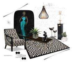 """""""Glamour de Nuit"""" by ildiko-olsa ❤ liked on Polyvore featuring interior, interiors, interior design, home, home decor, interior decorating, Zuo, jcp, Ceramiche Pugi and Tondo Doni"""