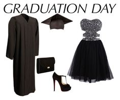"""""""graduation day"""" by beatrizcosta96 ❤ liked on Polyvore featuring Christian Louboutin, Mansur Gavriel and graduationdaydress"""