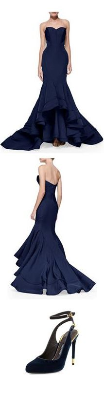 Zac Posen Mermaid Gown | Tom Ford Evening Shoes | cynthia reccord