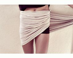 Trash To Couture: DIY Ruched Wrap Skirt