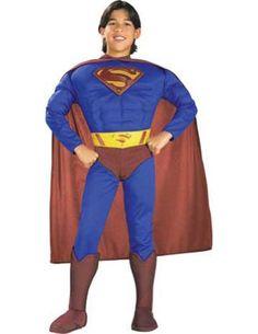 boys - Superman Muscle Chest Child Small Halloween Costume @ niftywarehouse.com #NiftyWarehouse #Superman #DC #Comics #ComicBooks