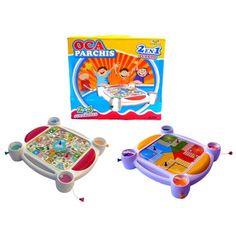 Juego 2 en 1.  http://www.cosaspararegalar.es/ideas-para-regalar/juegos-de-mesa/juego-parchis-oca.html