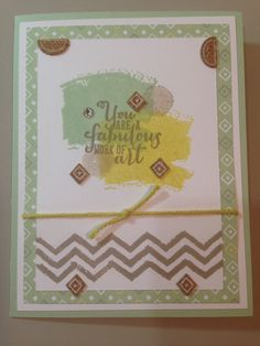 Stampin' Up! 2014 catalog launch A Work of Art with Sweet Sorbet