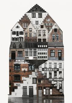 This series of collages by Sweden-based artist Anastasia Savinova, entitled Genius Loci, provides a unique study of city architecture. Each individual piece is an amalgamation of the spirit of a … Creative Landscape, Urban Landscape, Abstract Landscape, Collages D'images, Collage Artists, Genius Loci, Collage Architecture, Landscape Architecture, Architecture Artists