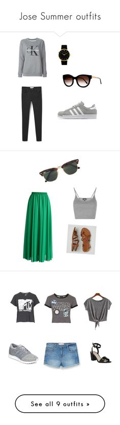 """""""Jose Summer outfits"""" by josephinavanleeuwen on Polyvore featuring MANGO, Calvin Klein Jeans, adidas Originals, Larsson & Jennings, Thierry Lasry, Topshop, Chicwish, Ray-Ban, American Eagle Outfitters and adidas"""