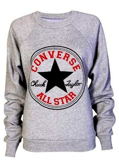 SEXY WOMEN LADIES CONVERSE PRINT SWEATSHIRT JUMPER TOP SIZE 8-10, 12-14 in Clothes, Shoes & Accessories, Women's Clothing, Jumpers & Cardigans | eBay!