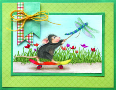 Today is the last day of the Stampendous!® week-long celebration of House-Mouse® Designs . I always enjoy creating with those c. House Mouse Stamps, Cartoon House, Mouse Color, Lavinia Stamps, Book Sculpture, Card Patterns, Penny Black, Card Designs, Design Cards
