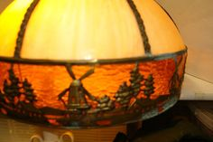 Electronics, Cars, Fashion, Collectibles, Coupons and 1930s, Tiffany, Amber, Arts And Crafts, Table Lamp, Brass, Ebay, Vintage, Home Decor