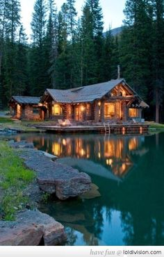 The Perfect Lake Cabin Lets leave for here NOW please!