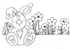 Bunny embroidery patterns