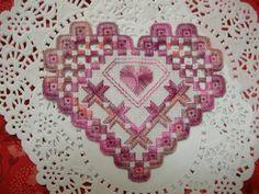 Pretty hardanger heart