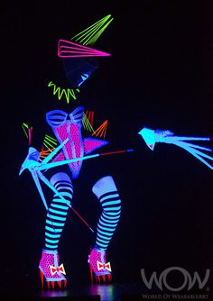 LASER GAGA, Janice Elliott, New Zealand. CentrePort Illumination Illusion Section. 2012 Brancott Estate WOW Awards Show