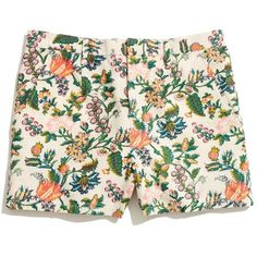 MADEWELL Tailored Shorts in Garden Vine ($35) ❤ liked on Polyvore featuring shorts, bottoms, pants, short, natural ground, cut off short shorts, tailored shorts, floral printed shorts, madewell shorts and cut off shorts