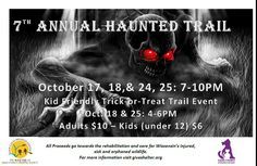 Haunted Trail info- Humane Society scary fundraiser
