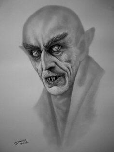 "Count Graf Orlok from ""Nosferatu - Graphite Portrait Artist - Darrel Bevan."