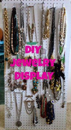 Jewelry storage DIY: The Baby Giraffe: Jewelry Display Inspiration