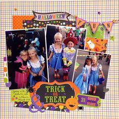 Trick+or+Treat+Halloween+Layout - Scrapbook.com