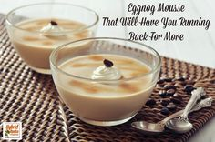 This eggnog mousse will stun even the pickiest palate! Easy to make, delicious to eat...why not make some tonight? HybridRastaMama.com
