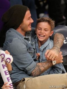 David Beckham Enjoys A Lakers Game With His Sons
