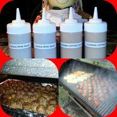 Smoked meatballs and cheese with plenty of home-made sauce. Home Smoker, White Sauce, Smoking, Dips, Cheese, Homemade, White Cream Sauce, Sauces, Home Made