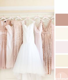 Color palette development to match Singer 401 rosy cocoa beige and cream colors --- blush toned palette, pantone pale do Gold Wedding Colors, Beige Wedding, Rose Wedding, Wedding Color Schemes, Fall Wedding, Dream Wedding, October Wedding, Trendy Wedding, Wedding Ceremony