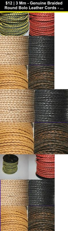 2mm and 25 yd Spool Black Realeather Crafts Round Leather Lace