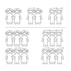 Sterling Silver Kids Holding Hands Necklace - 1
