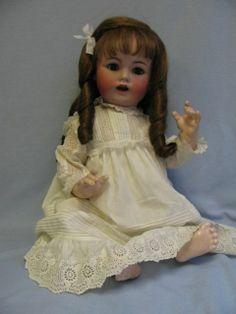 "26"" JDK 257 German Bisque Antique Doll Blue Sleep Eyes Circa 1910 Kestner   eBay"