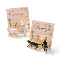 Cat lovers, rejoice! Now you can keep cute little kitties with you wherever you go with these **Curious Cat Earrings** from Japanese fashion brand **Osewaya!**  Available in **Black** and **White** versions, these adorable earring sets **include four earrings each: two studs (one bow and one pearl), and two kitties.** Like cute cats often do, they're wandering around in search of something to in...