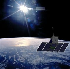 Artist's impression of OPS-SAT - a cubesat combining commercial off-the-shelf technology and ESA expertise.