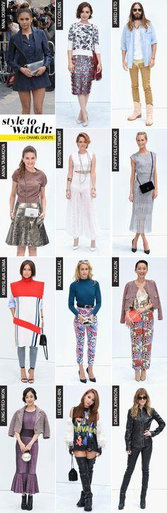 Looks: Chanel guests | Desfile alta-costura inverno 2015