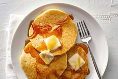 Coconut flour pancakes are the perfect low carb breakfast item. They're easy to make and a tasty morning go-to. Get the recipe here! Breakfast Items, Low Carb Breakfast, Coconut Flour Pancakes, Carb Alternatives, Toasted Coconut, Real Simple, Paleo Diet, Gluten Free Recipes, Brunch