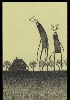 The Quiet Fanatics: John Kenn Mortensen Post-It Art Creepy Art, Weird Art, Arte Horror, Horror Art, Creepy Drawings, Art Drawings, Don Kenn, Arte Dark Souls, Post It Art