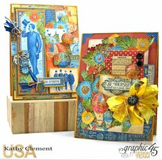 His and Her Birthday Card Tutorial, World's Fair, by Kathy Clement, Product by…