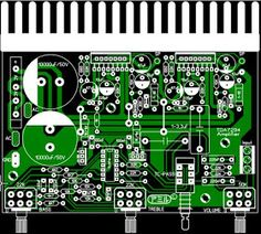 Layout Pcb Tone Control Apex - Amplifier With Apex Tone Control - Layout Pcb Tone Control Apex Audio Amplifier, Audiophile, Sony Led, Electronic Schematics, Pcb Board, Simple Website, Electronics Projects, Electronics Gadgets, Circuit Diagram