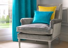 KENTIA is a luxurious velvet with a subtle crushed effect. Available in over 20 colours, KENTIA would be an elegant addition to any space. Ideal Home, Furniture, Upholstery Fabric, London Design Week, Furniture Upholstery, Chair, Home Decor, Upholstery, Upholstered Chairs