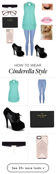 """Cinderella Disney Bound"" by lukehemmingspenguin13 on Polyvore featuring New Look, Kate Spade, City Chic, Rebecca Minkoff, 8 Other Reasons and Avon"