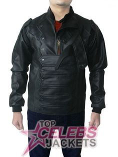 This spectacular Bucky Vest is produced of Synthetic leather and comprises inner Viscose lining. Along with a rib-knitted erect collar, it possesses of the most enterprising feature of belted feature closure at front. The sleeves owns a rib-knitted cuffs as well. It comprises of the detachable sleeves through zipper conclusion, making it both a jacket and a vest at the same moment. Order now and get hold of free of charge worldwide shipping and 30 days money back guarantee.