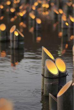 soft bamboo lighting