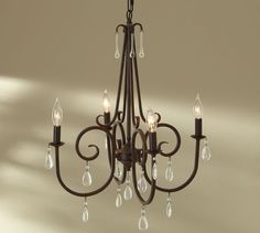Too big for a small bedroom? and could i handle bare bulbs? Audrina Chandelier | Pottery Barn